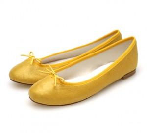 Repetto BB yellow metallic Flats: $161