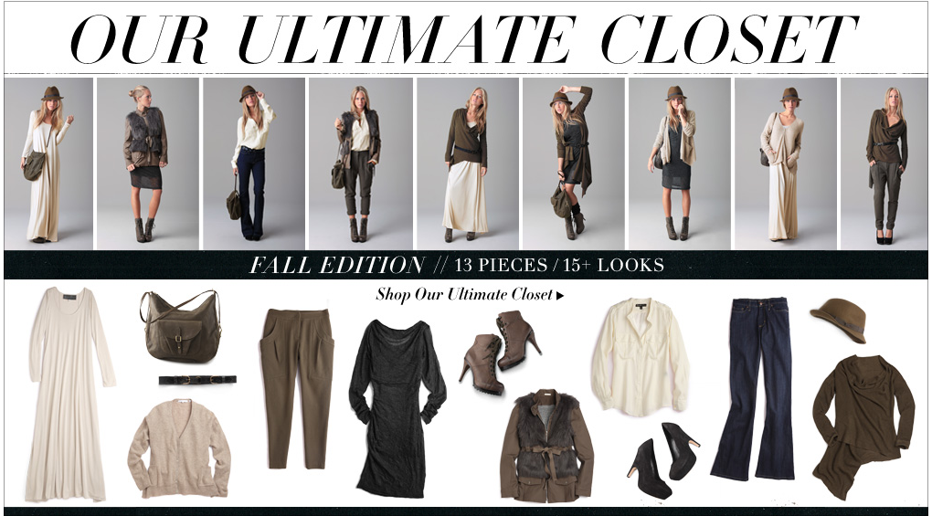 Shop shopbop's Fall closet