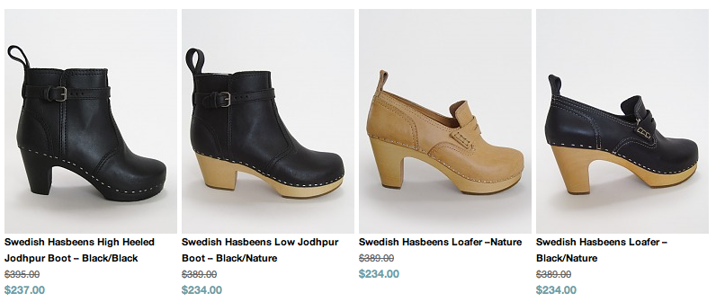 swedish hasbeens sale