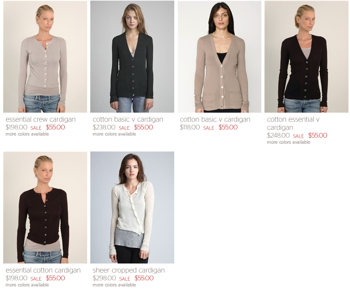 inhabit cardigan sale