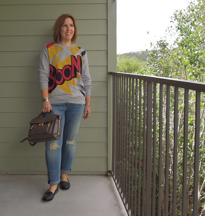 3.1 philip lim target boom sweatshirt, 3.1 philip lim target satchel bag review, rag & bone jeans, UGG austrailia loafers