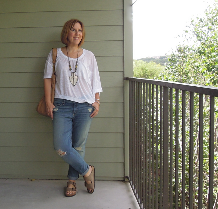 rag & bone dash jeans, birkenstock arizona sandals, fashion blogger outfit, birkenstock arizona review, jas m.b.