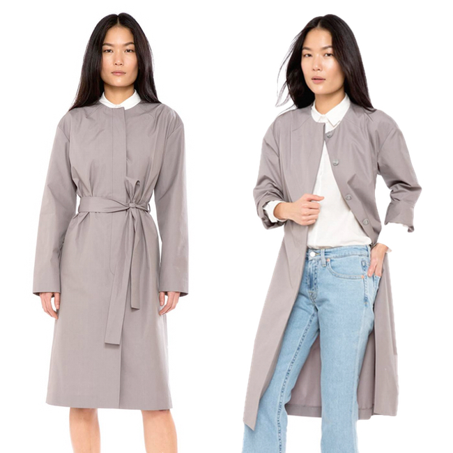 Sustainable Shopping | Zady's Organic Cotton Raincoat + Hemp at Elizabeth Suzann