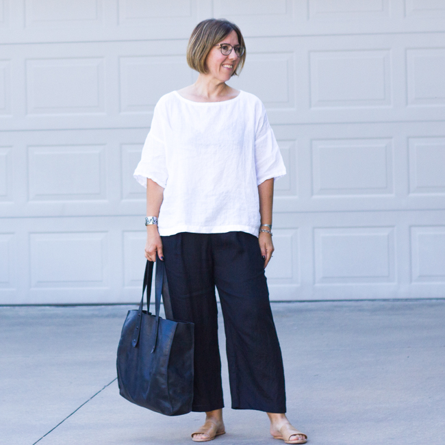 Summer of Linen | Eileen Fisher Organic Linen Outfit