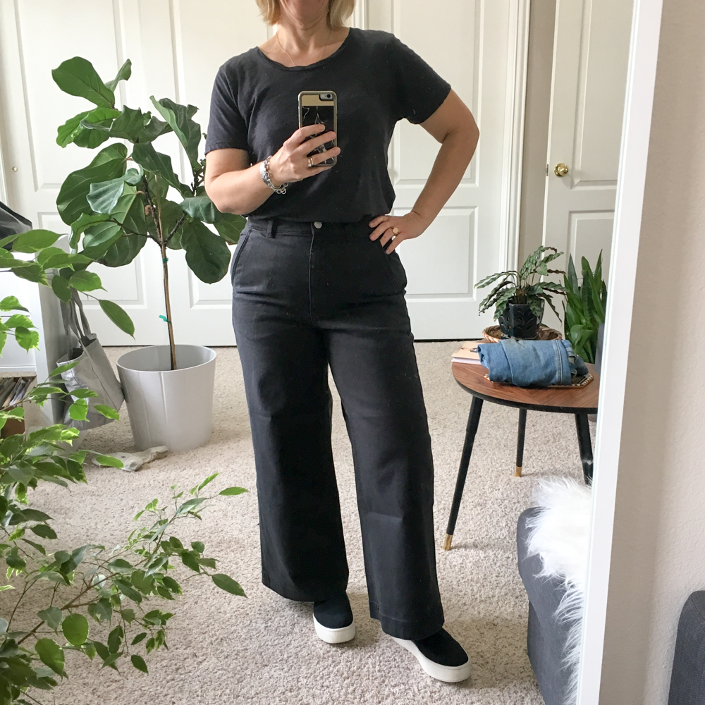 Review | Everlane Wide Leg Cropped Pants – Take 2