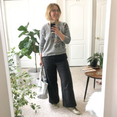 Outfit | Everlane cropped wide leg pants. Again.