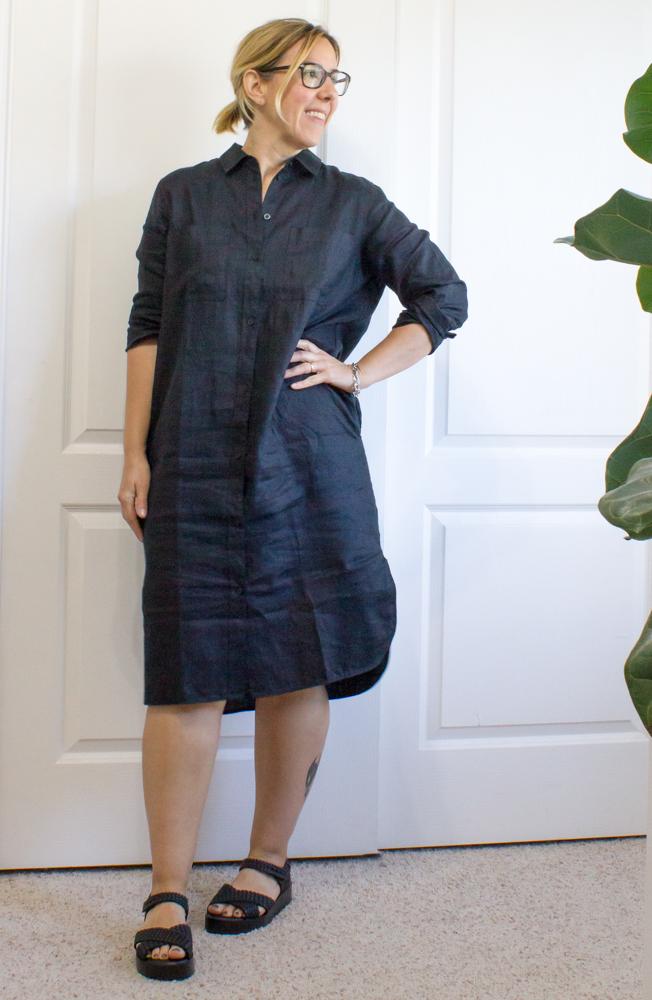 bad3fb47c1f Review | Everlane Linen Shirt Dress