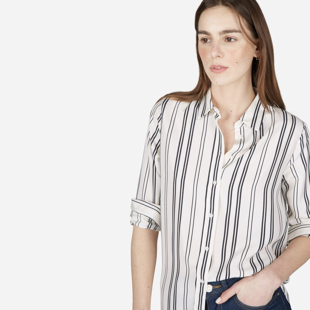 everlane silk blouse