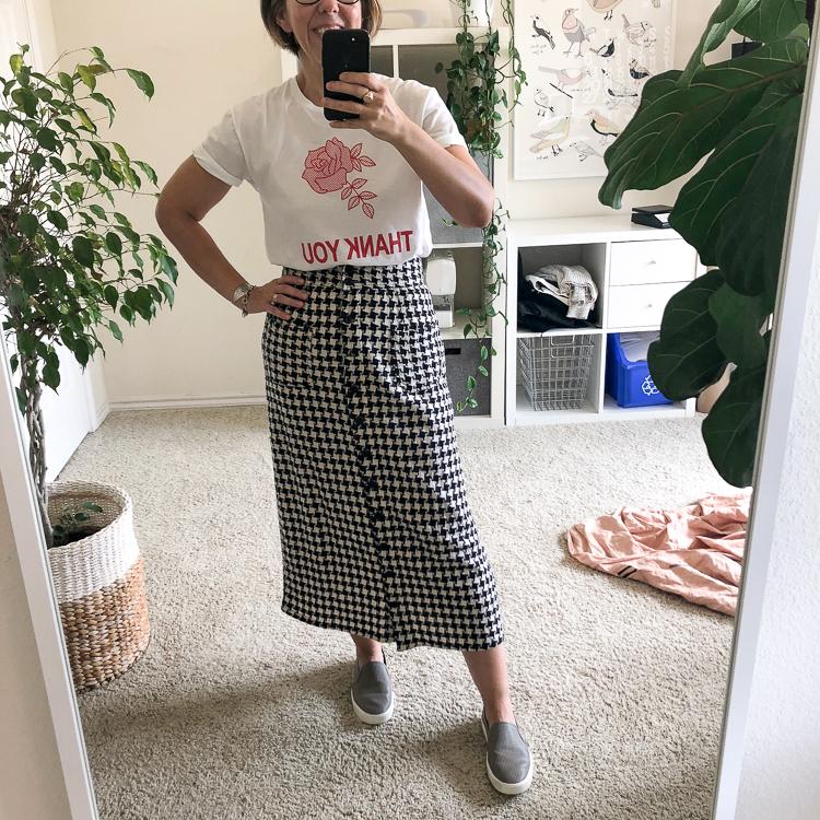 Outfit | Ace & Jig Bo Skirt in Tuxedo