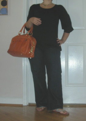 grechen outfit of the day spun organic cotton rebecca minkoff