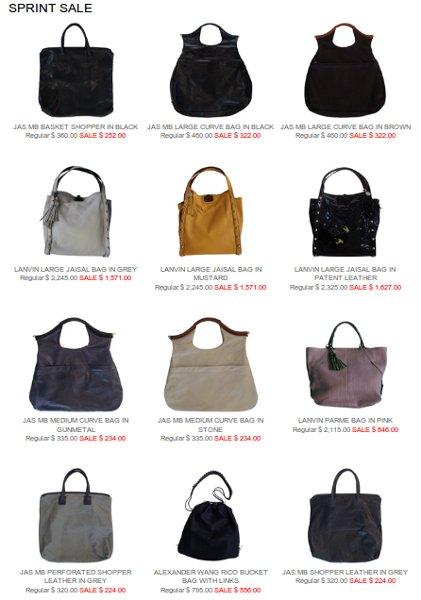jas m.b. bags 30% off