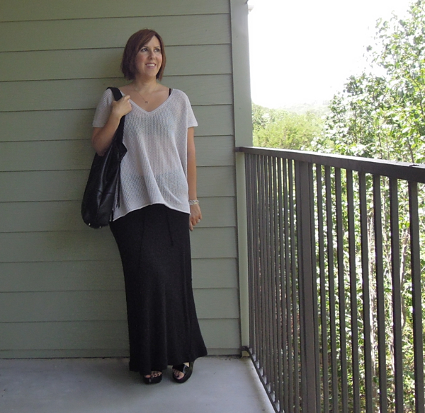 james perse skirt, vkoo oversized tee, robert clergerie pepo sandals, fashion blogger outfit