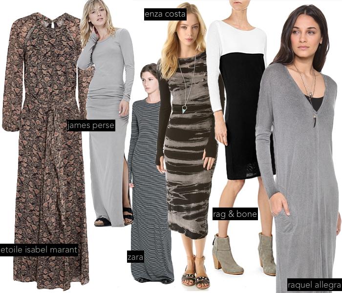 fall long sleeve dresses, etoile isabel marant dress, james perse long sleeve dress, raquel allegra long sleeve dress