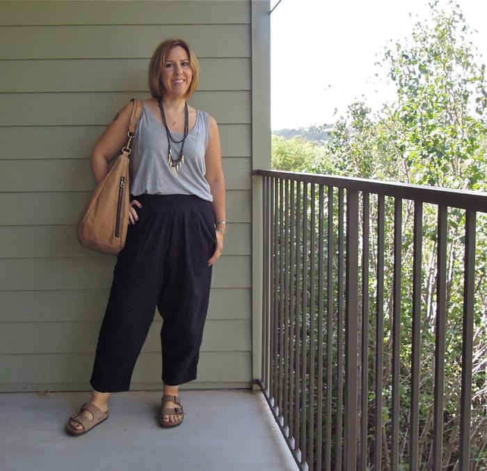 black crane carpenter pants review, everlane ryan tank, jas mb bag, fashion blogger outfit