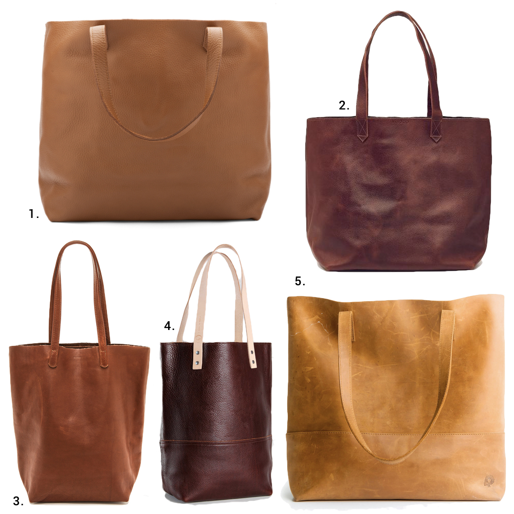ethical leather totes