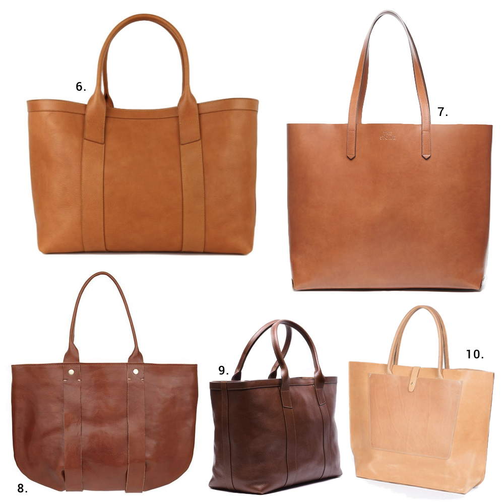 made in the us leather totes